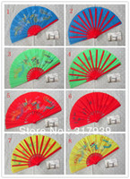 Wholesale I AM YOUR FANS Chinese Kungfu taichi martial art hand fan Chinese dragon st class bamboo frame