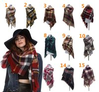 Wholesale 140 cm Za Fashion Winter Desinger Women Winter Plaid Blanket Scarf College Style Pashmina Scarves Shawl