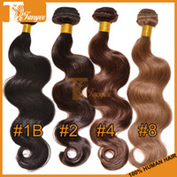 indian hair extensions - Big Promotion Cheap A Virgin Brazilian Hair Extensions Body Wave Unprocessed Peruvian Malaysian Indian Remy Human Hair Weave Weft