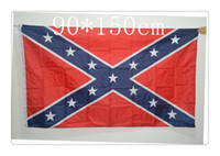 Wholesale 2015 HOT SALE and top DHL Free Two Sides Printed Flag Confederate Rebel Civil War Flag National Polyester Flag ft