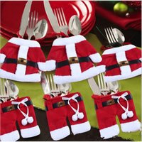 Wholesale Santa Claus small underwear knives and forks bag Christmas tree ornament sets hot sale