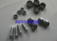 Wholesale 2 X Set of Matching Screw Caps Tag Cover Fit For Car Auto LICENSE PLATE FRAME order lt no track