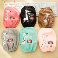 Wholesale pairs New household clean products Cute Giraffe With Little Girl Pattern Oversleeve Sleeves Arm Protector Do Housework