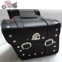 Wholesale Retro leather saddlebags motorcycles bag ktm harley motorcycle bags alforjas para moto seat bag
