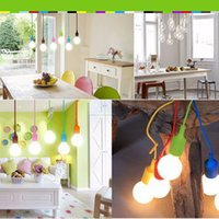 Wholesale Colorful Simple m Ceiling Lamp Light Pendant Bulb Home Room Decor E27 Base