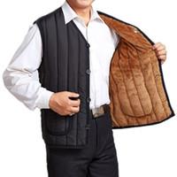add vest - Fall men vest new arrival Autumn winter Keep warm gilet men add wool thick chaleco hombre Plus Size XL XXXL vestidos