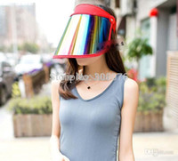achat en gros de visières de golf en plastique-Vente en gros de plastique en plastique Visière Sun Protection Protection UV Golf Sport CAP réglable