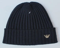 Wholesale HXF color men women warm wool hat Arma knitted hat