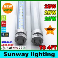 super white - 4ft led tube t8 light w W w Warm Cool White mm ft SMD2835 Super Bright Led Fluorescent Bulbs AC85 V CSA UL