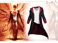 Wholesale New Game Cosplay Custome For DMC Devil May Cry Dante cosplay Jacket coat Super Cool Cloth For Halloween Party
