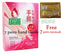 Wholesale Hands Nails Moisturizing Gloves gift pairs gold eye mask pairs Shea Butter Hand Mask Smoothing Whitening Moisturizing Hand Gloves