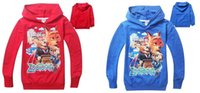 Wholesale Free DHL Boys Hoodies Zootopia Long Sleeve Hoodied Tshirts Colors Kids Crazy Animals Cartoon Hoodies Sweatshirts Kids Clothes