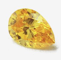 Wholesale UNHEATED CT Champagne SAPPHIRE PEAR SHAPE AAA LOOSE GEMSTONE