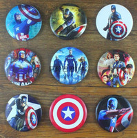 Wholesale The Avengers Superhero Captain America Metal Tin decorative BROOCH BADGE Pin Badge Button cm Pack Designs Kids Gifts