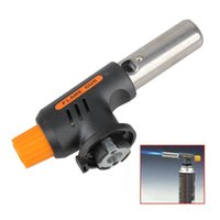 Wholesale Gas Torch Flamethrower Butane Burner Auto Ignition Camping Welding BBQ Outdoor Travel H1E1