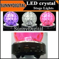 mirror ball disco ball - Mini Stereo Sound Speaker LED Flashing Disco Mirror Ball Light Stage Lighting Tf Card USB Flash Disk support Fm for Home Party B