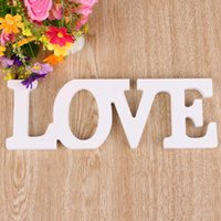 Wholesale Wedding Sign wedding decoration letters LOVE Wood Wooden Pure white letters Home Decoration Birthday decoration Gift