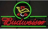 beer advertisements - Budweiser Foot Classic Neon Sign Custom Handmade Real Glass Tube Beer Bar KTV Club Pub Advertisement Display Neon Signs quot X16 quot
