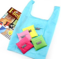 Wholesale New Candy color Japan Baggu Reusable Eco Friendly Shopping Tote Bag pouch Environment Safe Go Green DHL Free