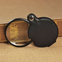 Wholesale Moodeosa New X magnifying Glass Lens Folding Pocket Magnifier Leather Pouch