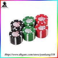 tobacco grinders - 3 Colors layer Poker Herb Smoke Cigarette Grinder Tobacco Grinder metal Grinder For Smoking