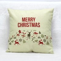 Cheap Hot Sale Vintage Christmas Deer Sofa Bed Home Decoration Festival Pillow Cushion Cute Cotton Linen Deer Free Shipping