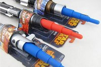 Wholesale 20PCS LJJH892 Star Wars hasbro Lightsaber scalable three star war light saber children s Christmas gifts and holiday gifts