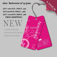 Wholesale Custom paper hang tags labels card printed personal logo for clothing free design