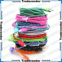 knit fabric - 2M FT USB Braided Charger Cable Knit Fabric Braided Woven Data Sync Charger Cable Nylon Woven Braid Cord Lead