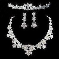 Cheap Three Piece Rhinestone Crystal Tiaras Hair Accessories For Wedding Prom Quinceanera Celebrity Dress Cheap Hot Sale LW
