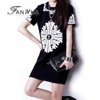Cheap Blending Straight Preppy Style Fashion Pattern Regular Dress New