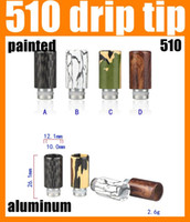 hatter - Drip Tip Drip Tip Aluminum Drip Tips Metal Mouthpiece Thread Fit Freakshow Mad Hatter Colourful Top Quality FJ151