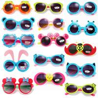 Cheap 2015 Fashion Children Sunglasses Boys Girls Kids Baby Child Cute Cartoon Lovely Sunglasses Goggles UV400 Protection Sun Glasses