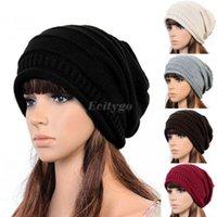 beret cotton knit - 10x Fashion Unisex Women Men Winter Warm Ski Knitted Crochet Baggy Beanie Hat Cap Beret Color