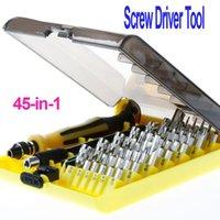Wholesale 45 in Torx Precision Screw Driver Cell Phone Repair Tool Set Tweezers Mobile Kit A