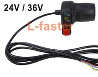 Wholesale 24V V V Electric Vehicle Twist Throttle Grips Power Voltage LED Indicator E bike Conversion Parts DIY Ebike Speed Controller