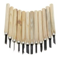 Cheap Multi-function 12Pcs set Wood Carving Hand Tools Chisel Woodcarving Woodworkers Gouges Tool