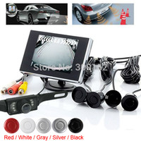 Wholesale Waterproof Car Parking Kit System Inch Car Rear view Monitor Rearview Monitor Sensors Backup Reverse Camera