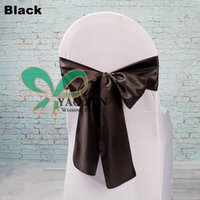 Wholesale Lycra Spandex Chair Cover With Black Color Satin Chair Sash