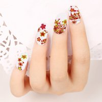 Wholesale 50 Sheets Set Flower Water Transfer Nail Art Stickers DIY Manicure Tip Decors Nail Sticker foil Decals W2199