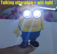 keyring - DH SR ID039 Despicable Me Minion Vocalization Light LED Keychain LED Charm Keychain Keyring New D Cute Gifts Can customize Minecraft
