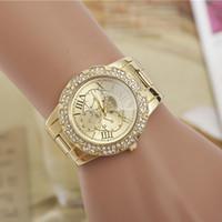 Wholesale woman watches brand luxury Roman numerals couples alloy diamond quartz watch fashion Steel belt watch luxury watch men