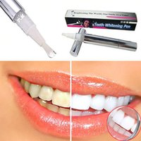 Wholesale 2pcs Hot Teeth Whitening Pen Tooth Gel Whitener Bleach Stain Eraser Remove Instant Kit Dental White Free Ship FG08114