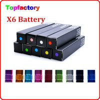 1300mAh Electronic Cigarette Battery X6 Electronic Cigarette Battery X6 1300mAh Battery High Capacity Battery for X6 V2 X8 X9 X10 Atomizer Good Quality DHL Fast Free Shipping