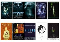 alien poster - 10 set ALIEN Series Movie Poster Picture Souvenir Card Sticker DIY Scrapbooking Decoration Self Adhesive Stickers