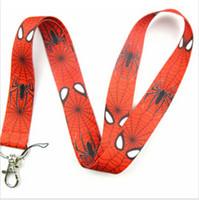 badge apple - SpiderMan Logo Strap Lanyards For ID Badge Mobile Phone Key Chain