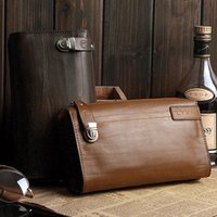 Wholesale Men s Genuine Leather Business Briefcase Clutch Bags Handbags Wallet Cards AR172 salebags