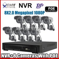 Wholesale P MP POE IP Camera Outdoor Waterproof Infrared P2P Onvif Network CCTV Camera ch POE NVR KIT