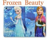 Wholesale Frozen Leather case Cartoon Movie Anna Princess Elsa Olaf Folio Stand holder Folding Smart cover For Ipad Mini mini2 mini3