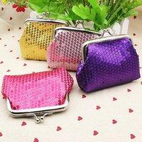 Wholesale Fashion New Women s Sequins Coin Purse Bling Bling Key Bag Clutch Glittery Handy Buckle Case Q1Q